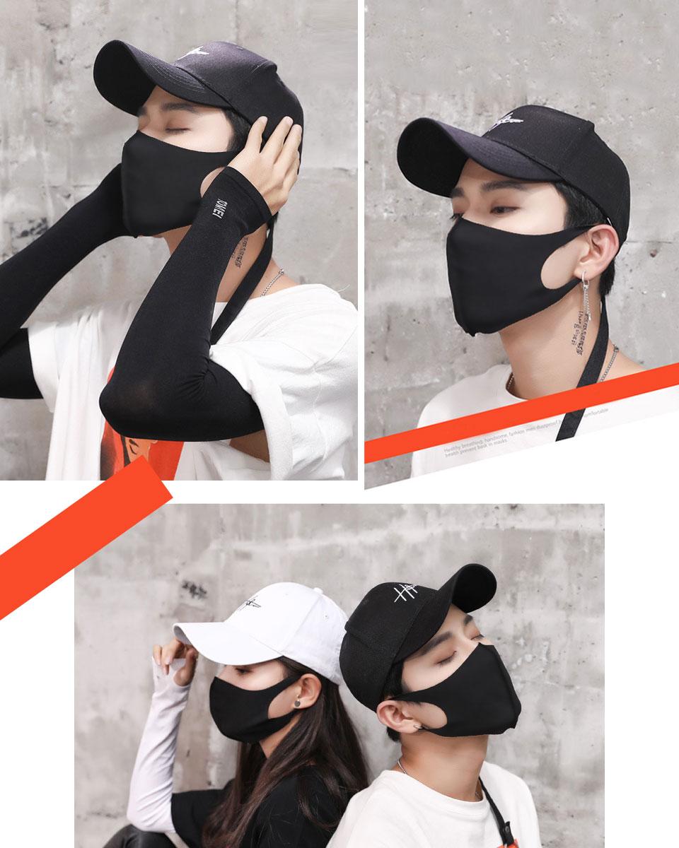 黒マスク B系 ストリート ファッション コスプレ