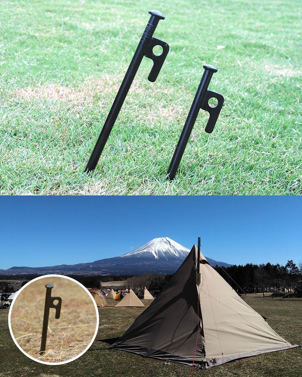 ペグ 鋳造 セット スチールペグ アウトドア用品 キャンプ用品 テント用品