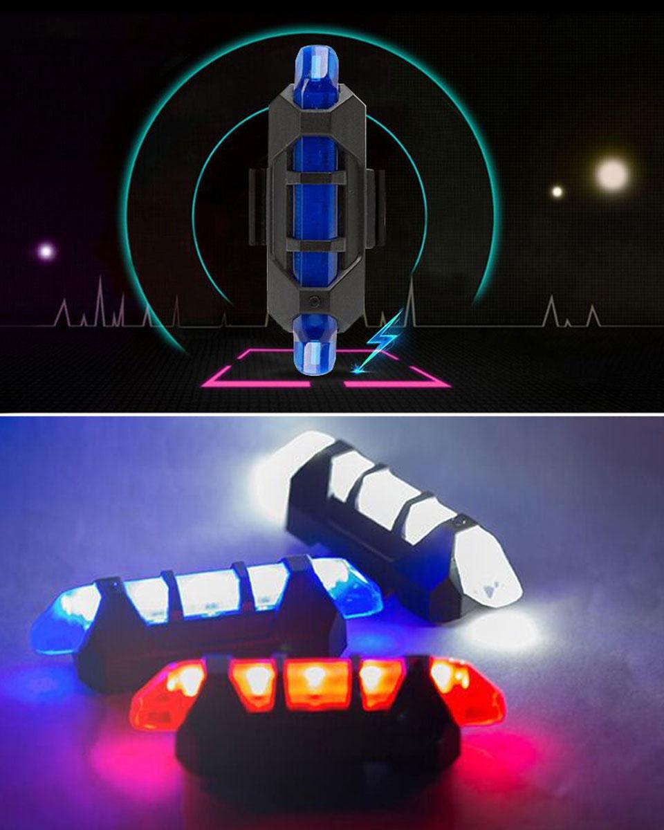 自転車 ライト テールライト LEDライト USB充電 警告灯 サイクルライト LEDテールライト LED自転車ライト 充電式ライト バックライト