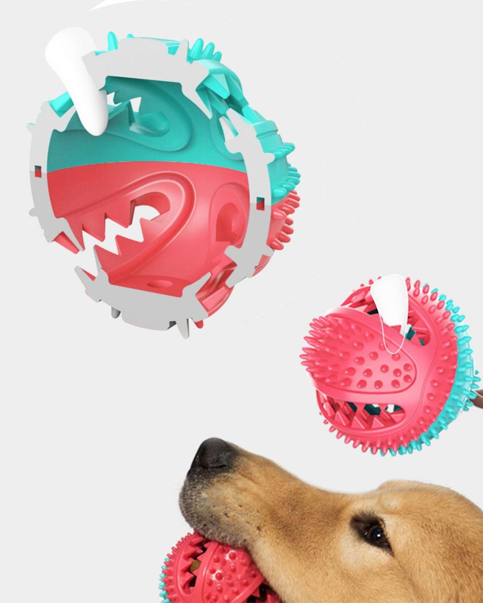 犬 知育玩具 知育おもちゃ ボール ロープ 歯磨き 歯ブラシ 歯石取り はみがき おやつボール しつけ フードボール早食い防止