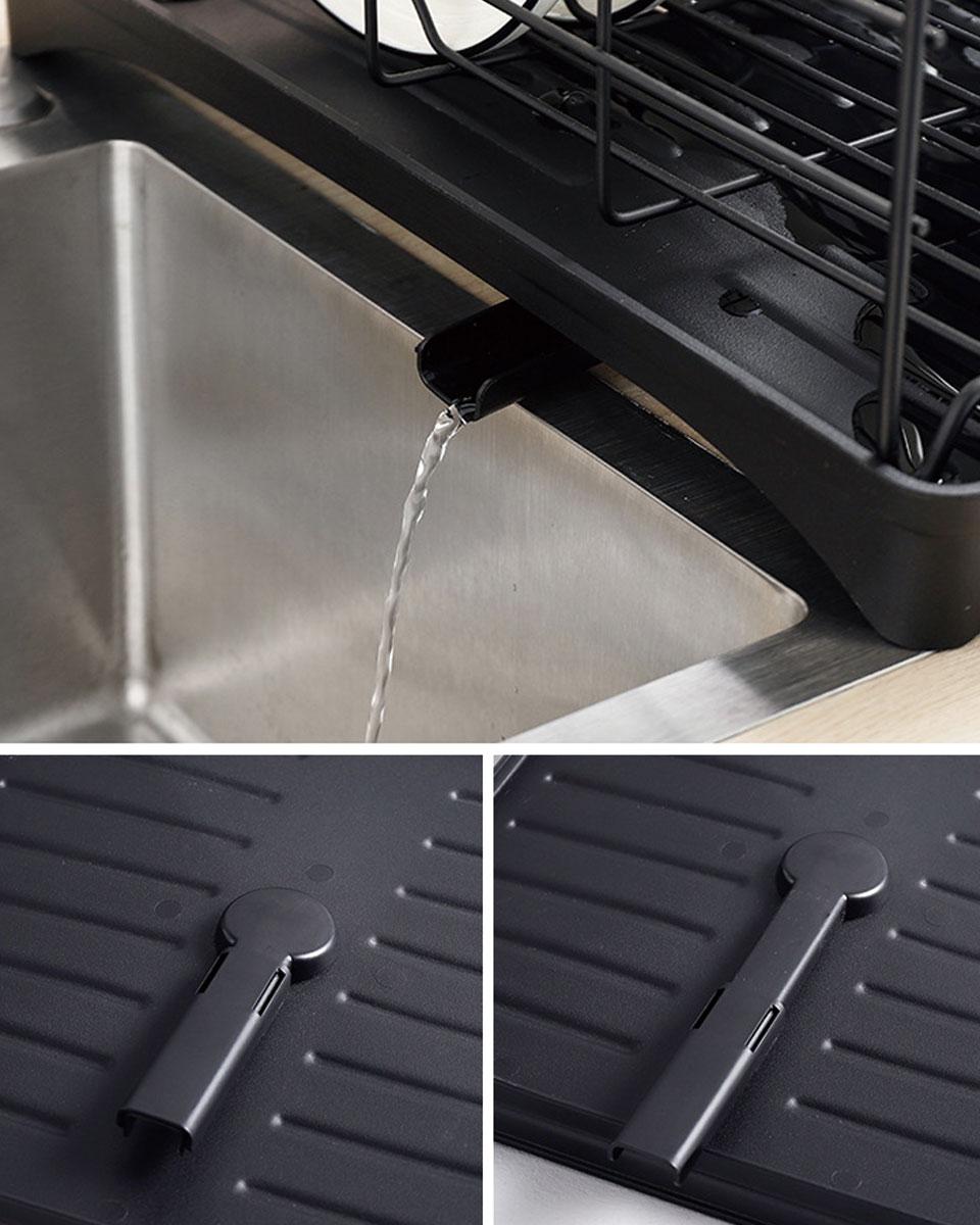水切り 水切りラック シンク上 水切りかご 水切りカゴ 大容量 水切りトレー 水切りバスケット キッチン用品