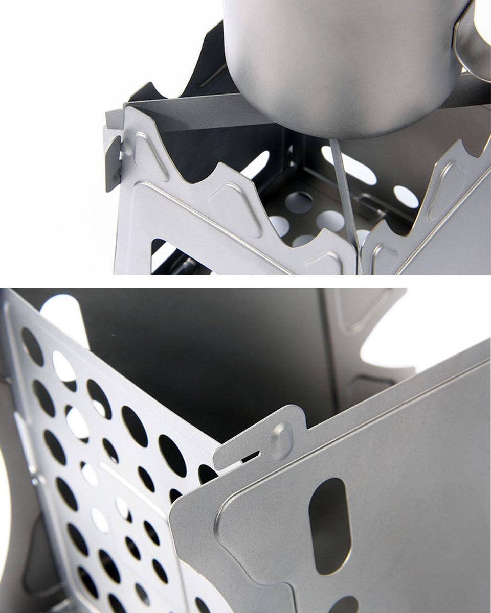 ウッドストーブ チタン製 焚き火台 薪ストーブ コンパクト 折り畳み ソロキャンプ アウトドア バーベキューコンロ