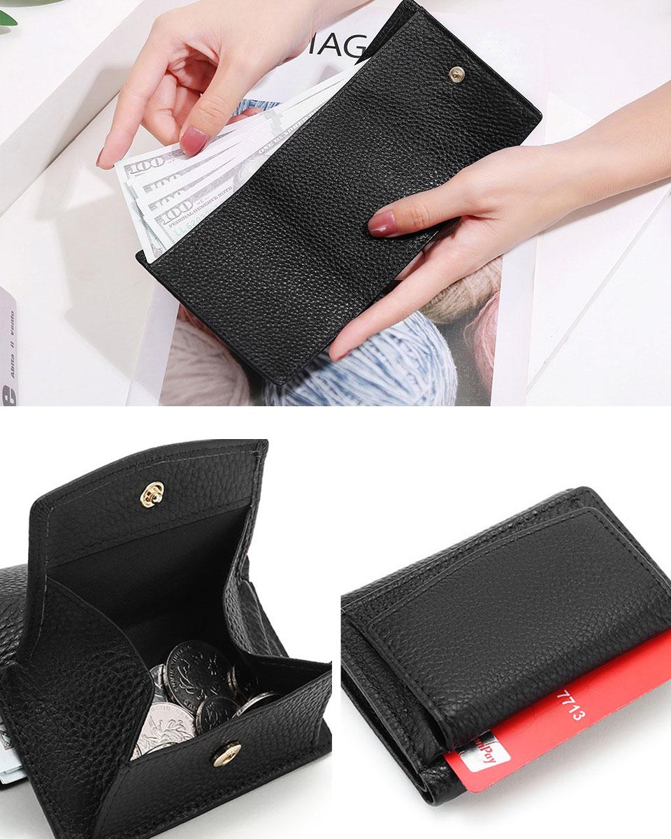 財布 ミニ財布 三つ折り財布 レディース メンズ コンパクト 本革 レザー スキミング防止
