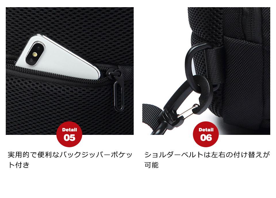 ボディバッグ ショルダーバッグ メッセンジャーバッグ メンズ レディース スマホ充電 usb充電 撥水