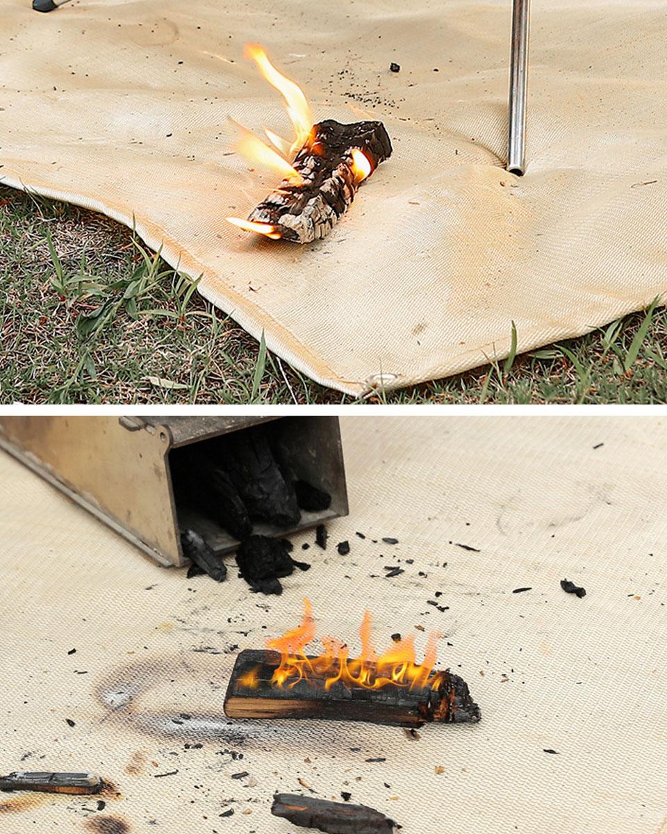 焚き火シート 耐火シート 焚火シート 焚き火台シート たきびシート たき火台シート
