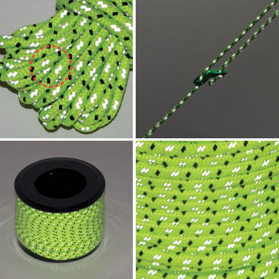 テントロープ 反射 タープロープ ガイドロープ テント用ロープ タープ用ロープ パラコード