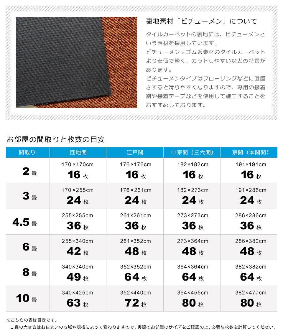タイルカーペット 50×50cm 大判