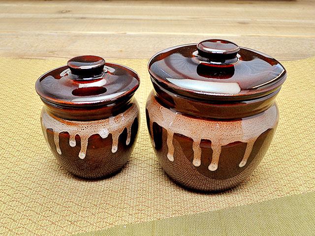 和食器 蓋付壺(小)