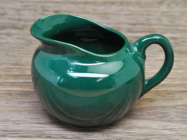 丸型ミルクポット 深緑