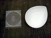 白い食器フォンテ デュードロップボール18cm
