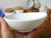 白い食器フォンテ デュードロップボール16cm横