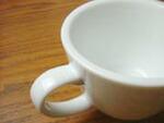 白い食器フォンテ コーヒーカップ&ソーサー