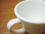 白い食器フォンテ カプチーノカップ&ソーサー