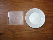 白い食器フォンテ 丸皿17cm
