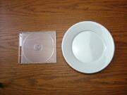 白い食器フォンテ 丸皿19.5cm