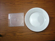 白い食器フォンテ 丸皿21.5cm