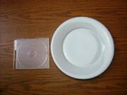 白い食器フォンテ 丸皿24.5cm