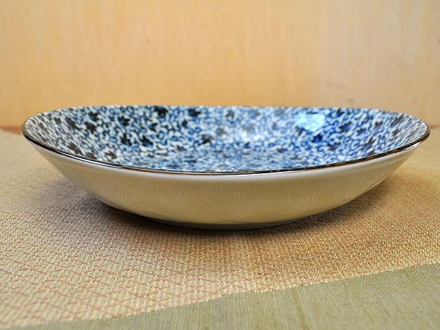 益子唐草7.0楕円浅鉢