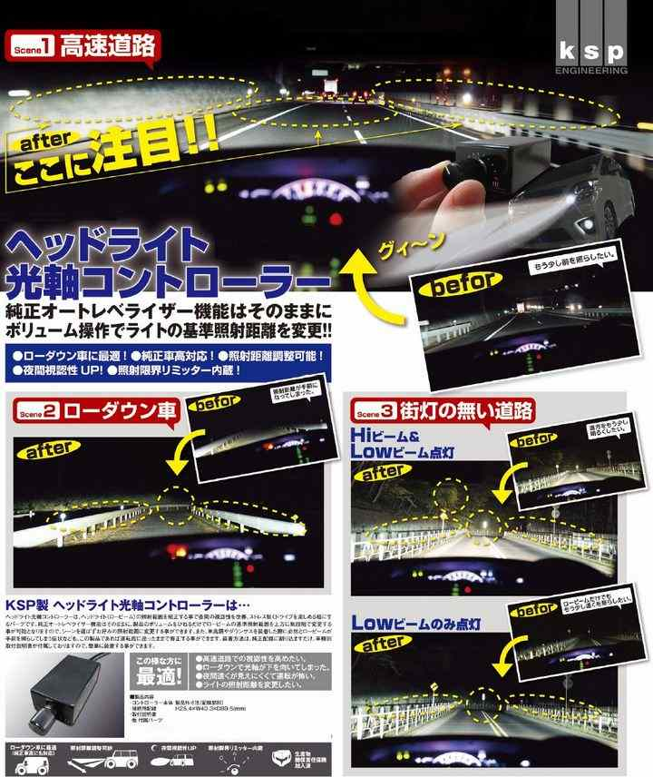REAL ヘッドライト光軸コントローラー