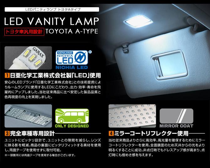 バニティミラーオープン時にLEDで明るく照らす