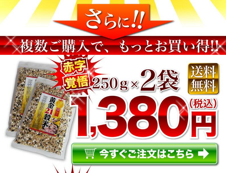 250g(2袋) 黄金21穀米 1,380円(税込)送料無料!!