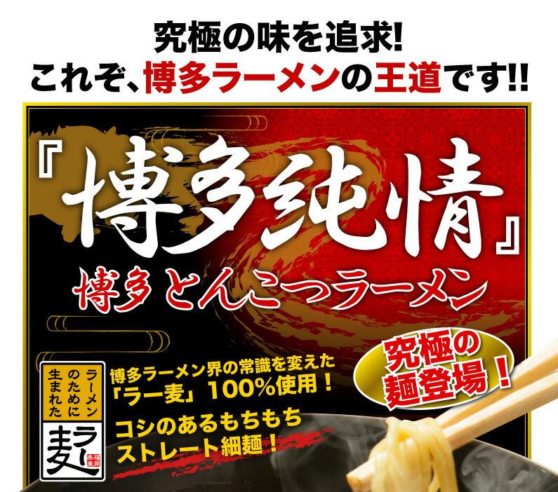 これぞ、博多ラーメンの王道!!『博多純情』博多とんこつラーメン 究極の麺登場!