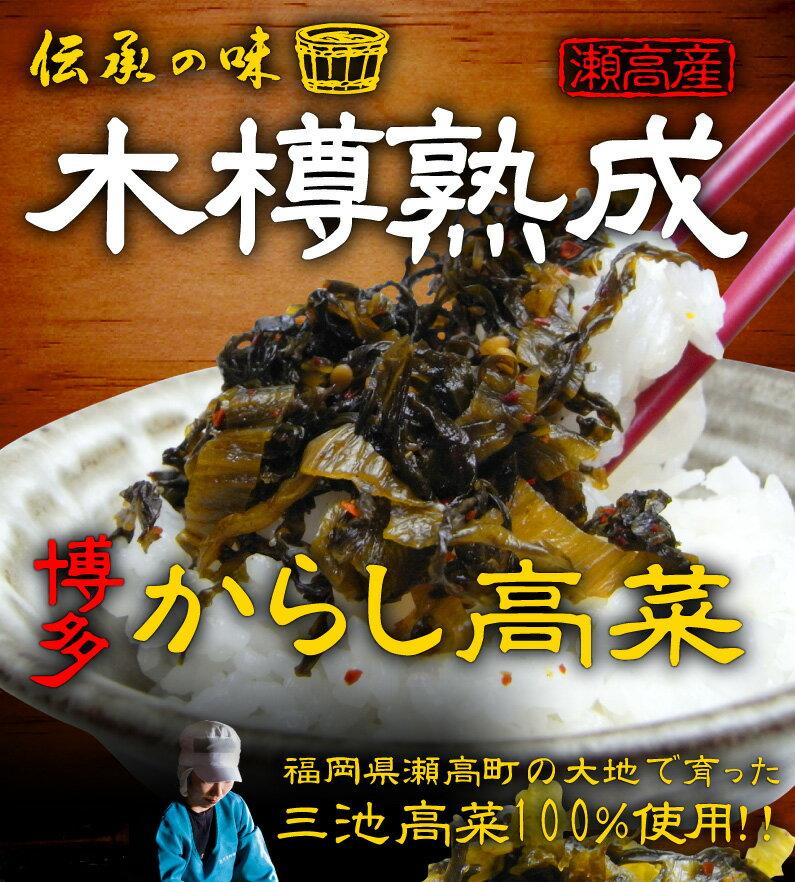 伝承の味!瀬高産!木樽熟成!博多からし高菜!三池高菜100%使用!!
