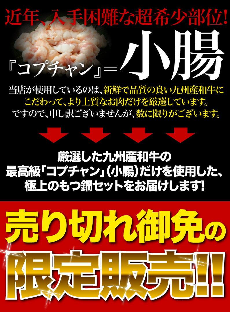 九州産和牛最高級コプチャン100%使用!!
