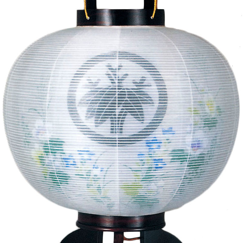 外絹張二重)/盆ちょうちん ミニサイズ 大内行灯 盆提灯 灯燈