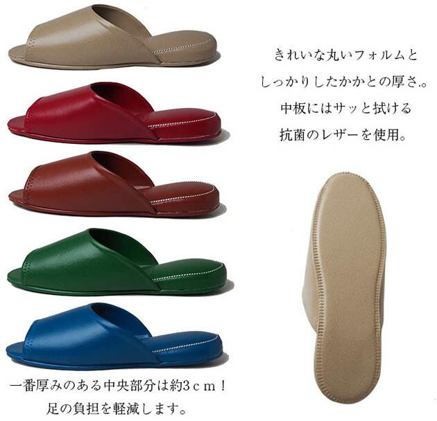 一番厚みのある中央部分は約3cm!足の負担を軽減します。