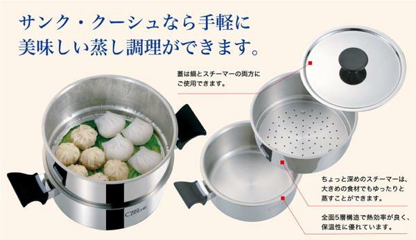 サンク・クーシュ なら手軽においしい蒸し調理ができます