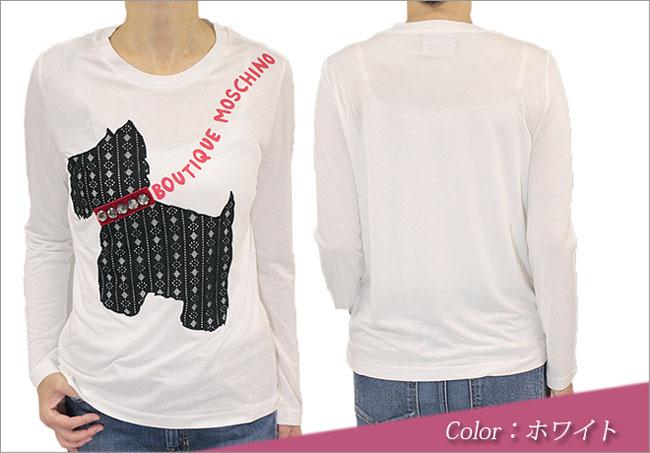 ブティック モスキーノ BOUTIQUE MOSCHINOの長そでTシャツ前後 カラーはホワイト(白)です