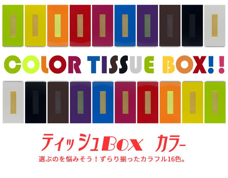 ティッシュBOX カラー 橋本達之助工芸