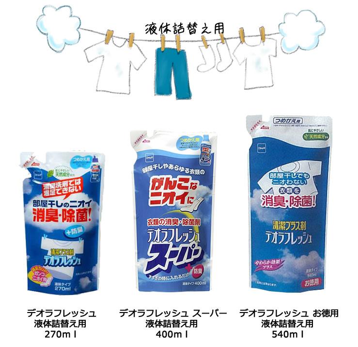 衣類の消臭・除菌剤 デオラフレッシュ