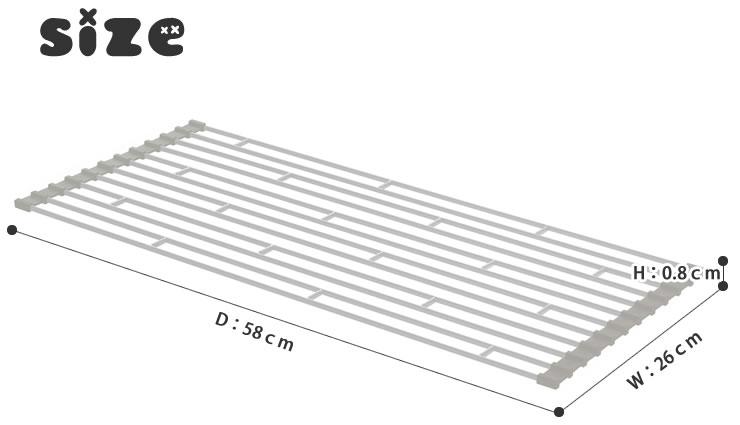 折りたたみ水切りラック Plate(プレート)