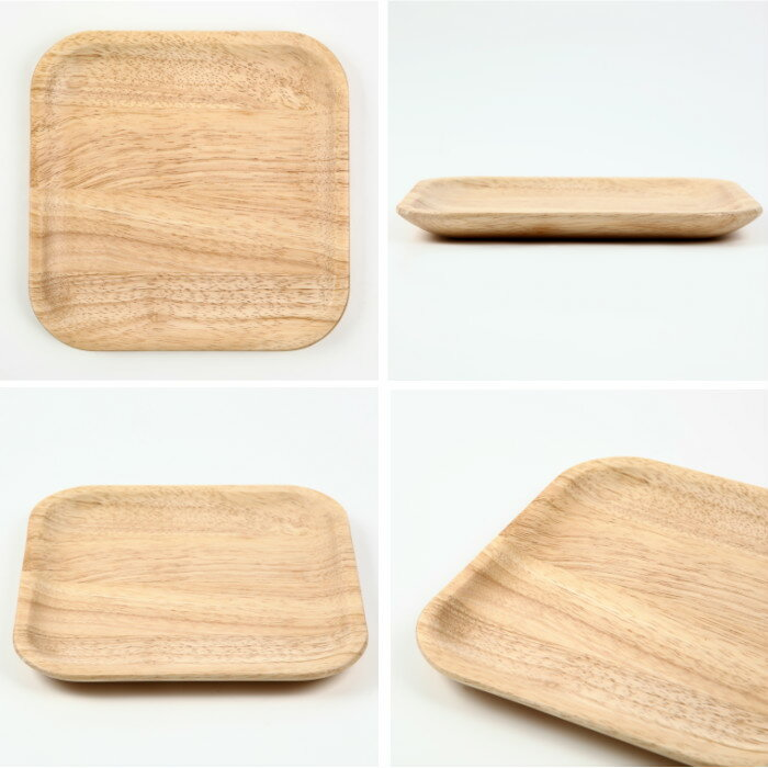 Wood plate cutting board set | Wooden tableware plate set North European  stylish square Saragi tableware set cafe cafe style cafe plate plate set