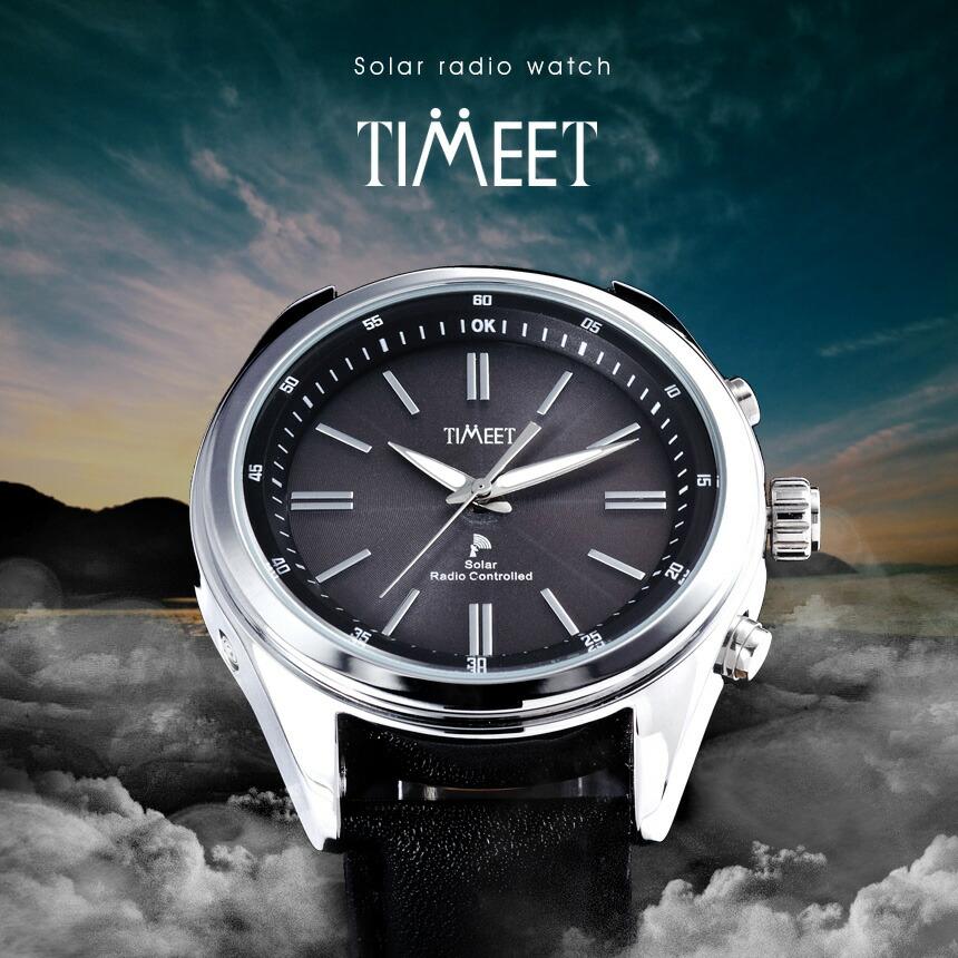 Timeet ソーラー電波時計