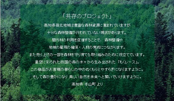 高知県 れいほく杉 小物 もくレース