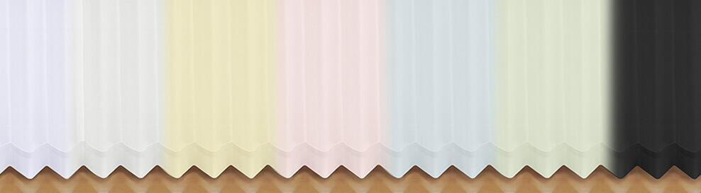 色付きレースカーテンのバリエーション