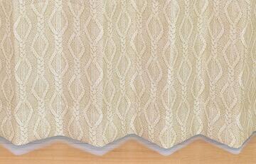 遮光カーテン 「FUR&KNIT」 リアルなファー、ニット模様のプリント