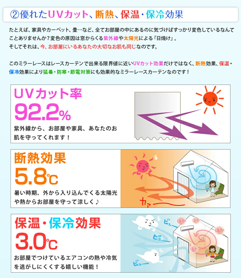 優れたUVカット、断熱効果、保温・保冷効果
