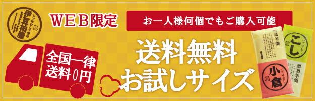 WEB限定 お一人様何個でもご購入可能 全国一律送料0円 送料無料お試しサイズ