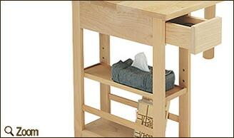 ダイニングテーブル 幅150cm 収納庫付き 天然木メープル無垢材 変形型天板 KMLT-1530 楓の森シリーズ ミキモク 送料無料 セール くろがねっと