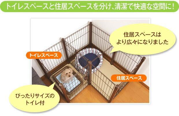 トイレスペースと住居スペースを分け、清潔で快適な空間に!