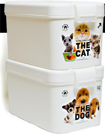 THE DOG/THE CAT フードボックス(FOODBOX/フードBOX) 湿気防止パッキン付きフードストッカー!