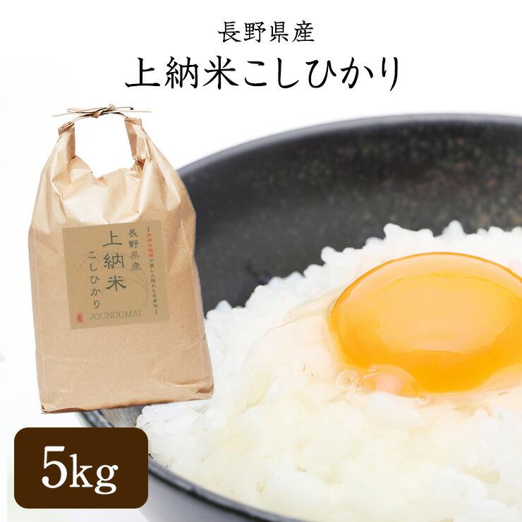 長野県産 上納米こしひかり 5kg