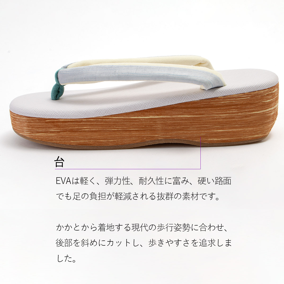 . HAKU 草履 NO.141 |ホワイト×ブルー /> <br><br> <img src=