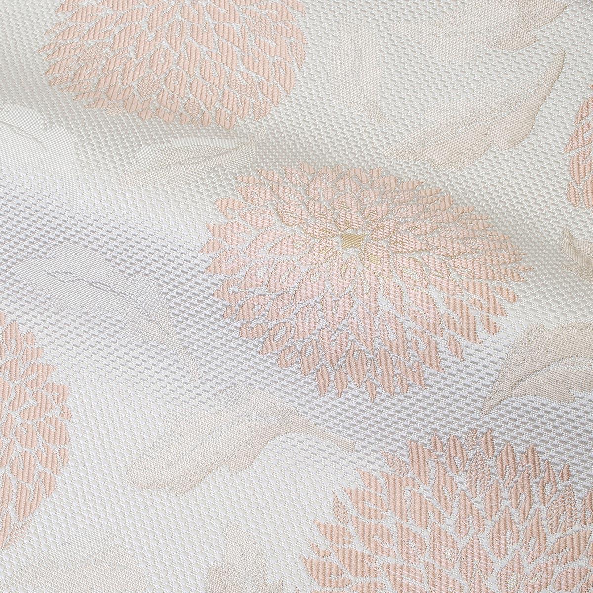 博多織八寸名古屋帯【玉菊】乳白