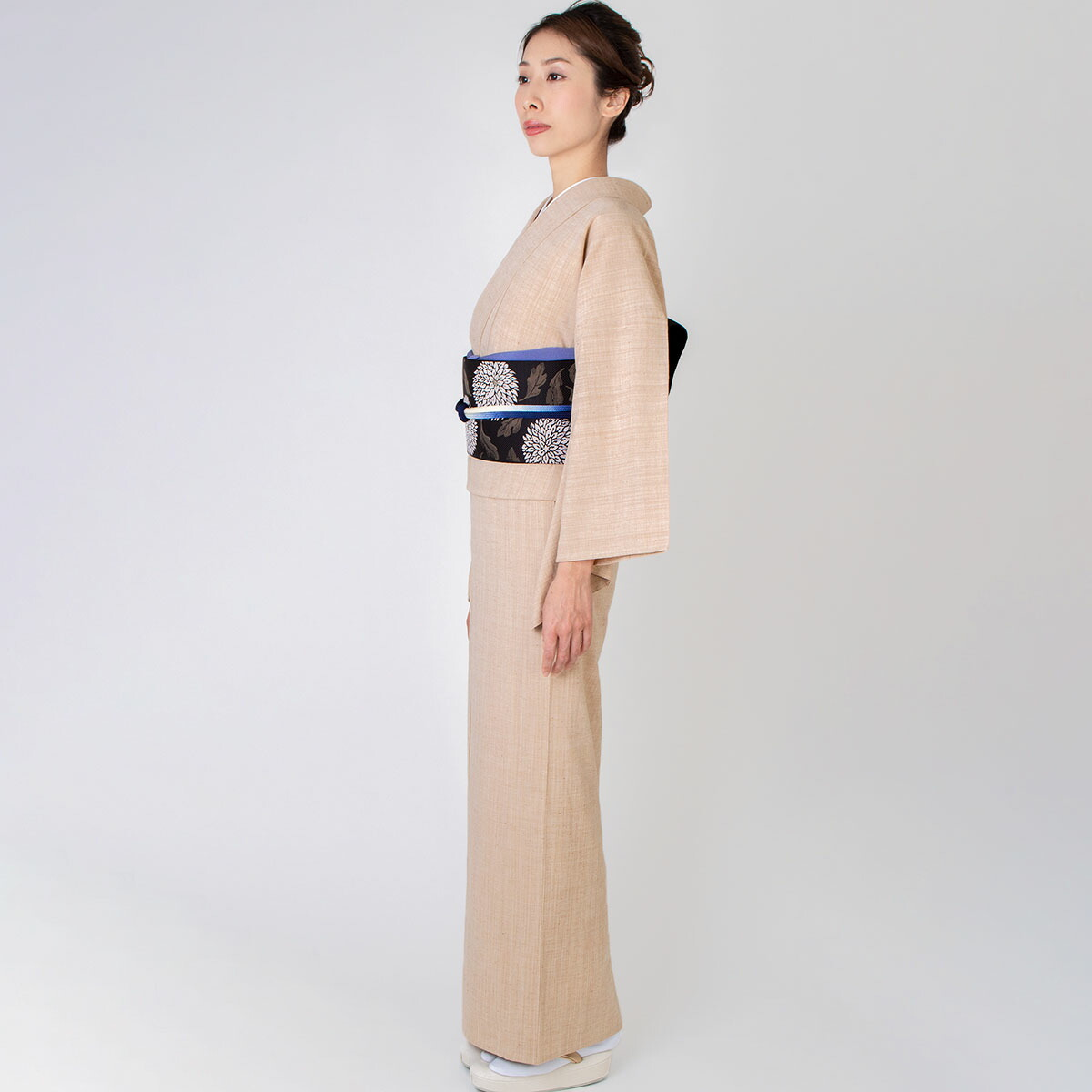 デニム着物【オーガニックミルクティ】