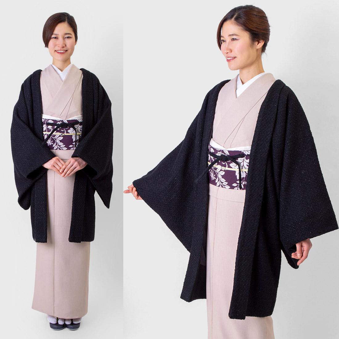 着物屋くるり 羽織 ウォーム・アッシュ【tweed】